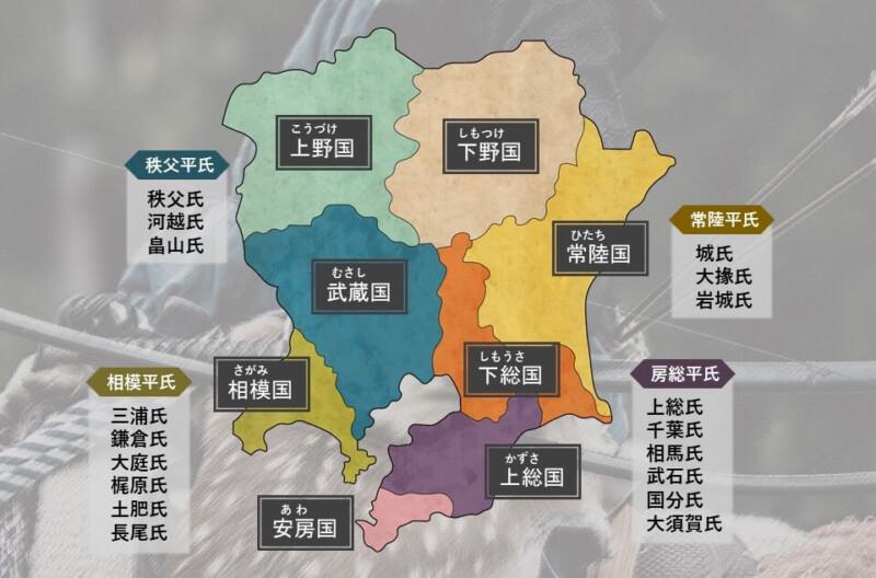 関八州と坂東平氏